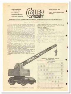 Coles Cranes Inc 1950 vintage oil gas catalog oilfield crawler truck