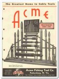 Acme Fishing Tool Company 1951 vintage oil catalog oilfield drilling
