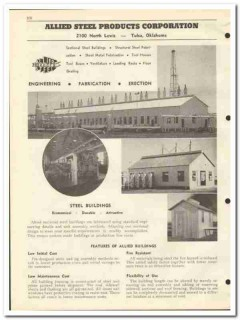 Allied Steel Products Corp 1951 vintage oil catalog oilfield buildings