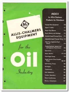 Allis-Chalmers Mfg Company 1951 vintage oil catalog oilfield motors