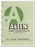 Altens Foundry Machine Works Inc 1951 vintage oil gas catalog oilfield