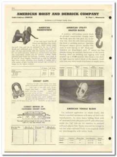 American Hoist Derrick Company 1951 vintage oil gas catalog oilfield