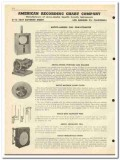 American Recording Chart Company 1951 vintage oil catalog instruments