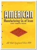 American Mfg Company Texas 1951 vintage oil gas catalog oilfield Amcot