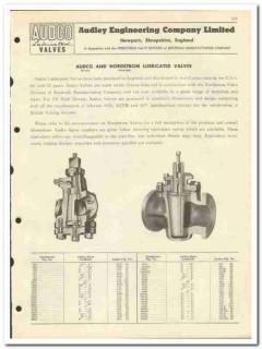 Audley Engineering Company LTD 1951 vintage oil catalog oilfield valve