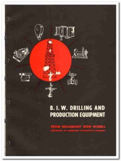 Beaumont Iron Works Company 1951 vintage oil catalog oilfield drilling