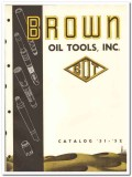 Brown Oil Tools Inc 1951 vintage catalog oilfield drilling packers