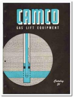 Camco Inc 1951 vintage oil catalog oilfield gas lift equipment valves