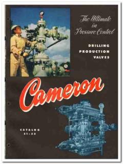 Cameron Iron Works Inc 1951 vintage oil gas catalog oilfield valves