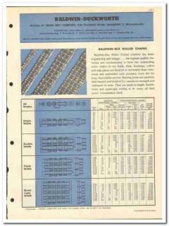 Chain Belt Company 1951 vintage oil catalog oilfield Baldwin-Duckworth