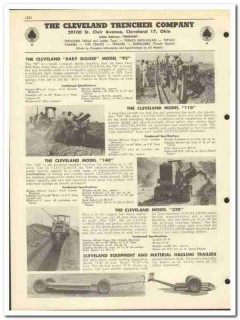 Cleveland Trencher Company 1951 vintage oil catalog oilfield digger