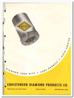 Christensen Diamond Products Company 1951 vintage oil catalog oilfield