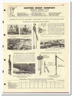 Coffing Hoist Company 1951 vintage oil gas catalog oilfield lifting