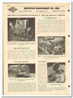 Houston Equipment Company 1951 vintage oil gas catalog pipeline HECO