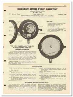 Houston Slush Pump Company 1951 vintage oil gas catalog oilfield gauge
