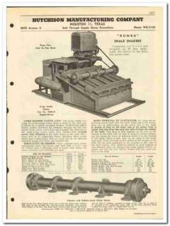 Hutchison Mfg Company 1951 vintage oil catalog oilfield shale shaker