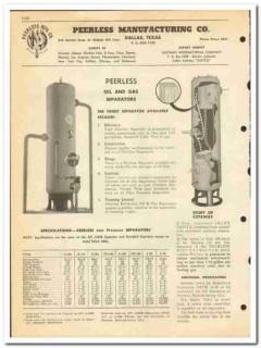 Peerless Mfg Company 1951 vintage oil gas catalog oilfield separators