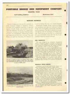 Portable Bridge Equipment Company 1951 vintage oil catalog oilfield