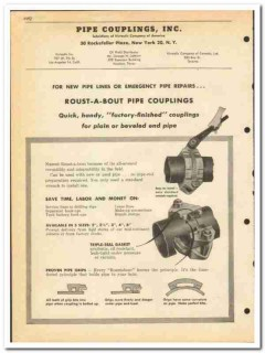 Pipe Couplings Inc 1951 vintage oil gas catalog oilfield Roust-A-Bout