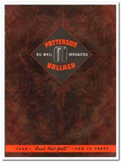 Patterson-Ballagh Corp 1944 vintage oil gas catalog oilfield protector