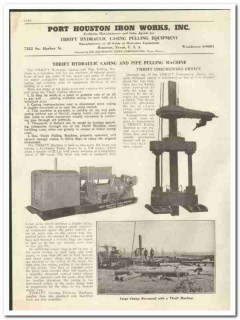 Port Houston Iron Works Inc 1944 vintage oil gas catalog oilfield pipe