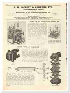 A M Lockett Company 1947 vintage oil catalog oilfield pumping heating