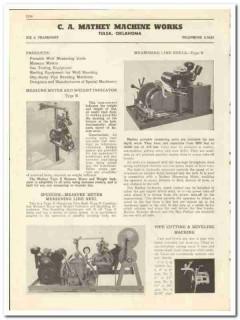 C A Mathey Machine Works 1947 vintage oil gas catalog oilfield measure