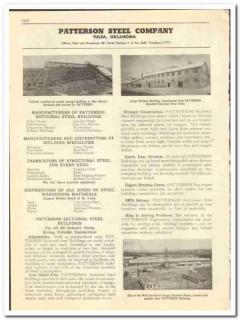 Patterson Steel Company 1947 vintage oil catalog oilfield buildings