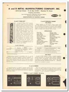 A B Metal Mfg Company 1963 vintage oil gas catalog oilfield tungsten
