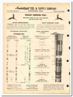 Antelope Tool Supply Company 1963 vintage oil gas catalog oilfield