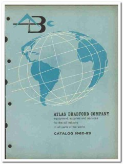 Atlas Bradford Company 1963 vintage oil gas catalog oilfield equipment