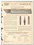 B W Metals Company 1963 vintage oil catalog oilfield Kutrite tungsten