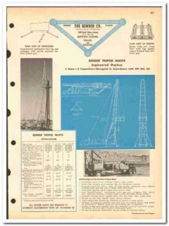 Bender Company 1963 vintage oil catalog oilfield tripod masts hoists