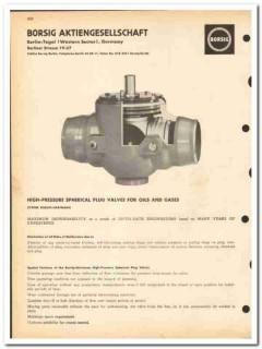 Borsig Aktiengesellschaft 1963 vintage oil gas catalog oilfield valves
