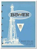 Bowen Itco Inc 1963 vintage oil gas catalog oilfield equipment tools