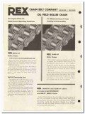 Chain Belt Company 1963 vintage oil gas catalog oilfield roller Rex